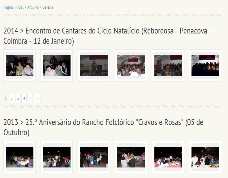 """Galeria de Fotos do Grupo de Rancho Folclórico """"Cravos e Rosas"""""""