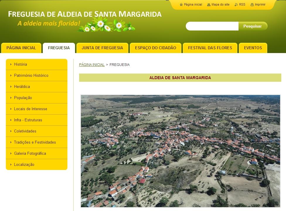 Página dedicada à Freguesia de Aldeia de Santa Margarida