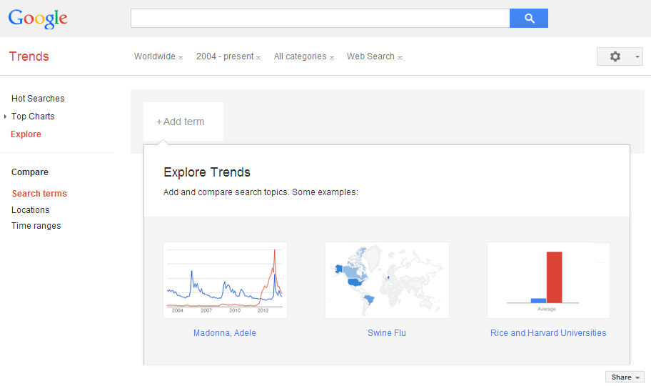Search on Google Trends