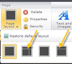 Cambia il layout del tuo sito