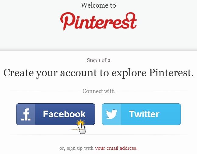 Crea il tuo account di Pinterest