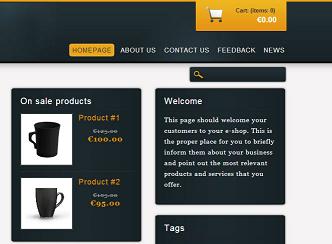 I nuovi template per siti E-commerce