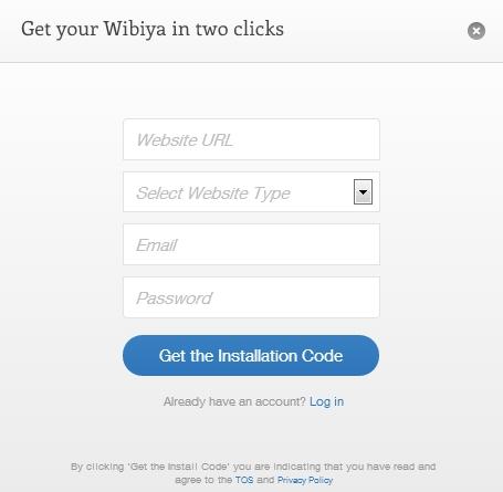 Ottieni il codice di installazione per la barra dei Social Buttons Wibiya
