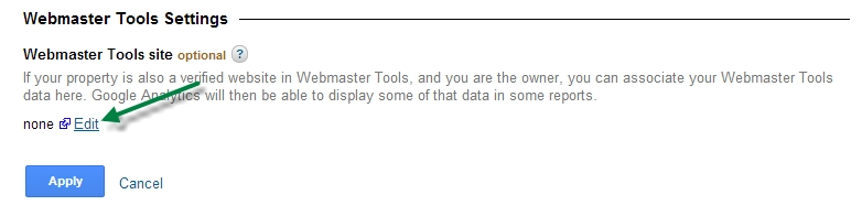 How to set Webmaster Tools