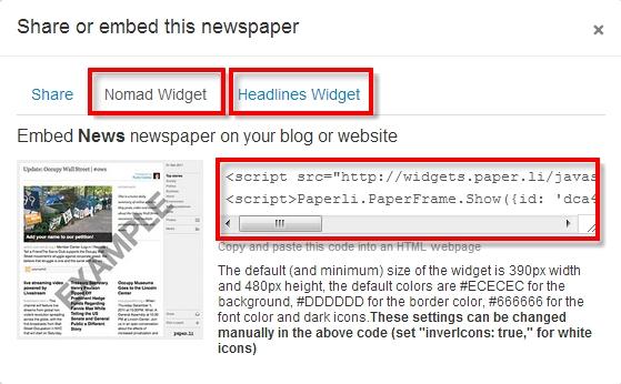 Nomad and Headlines Widgets