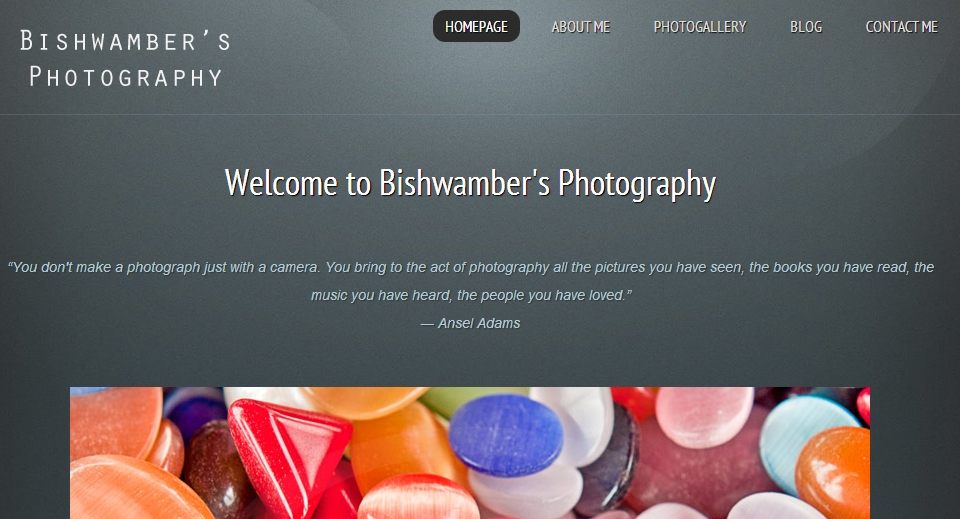 Bishwamber's photography website
