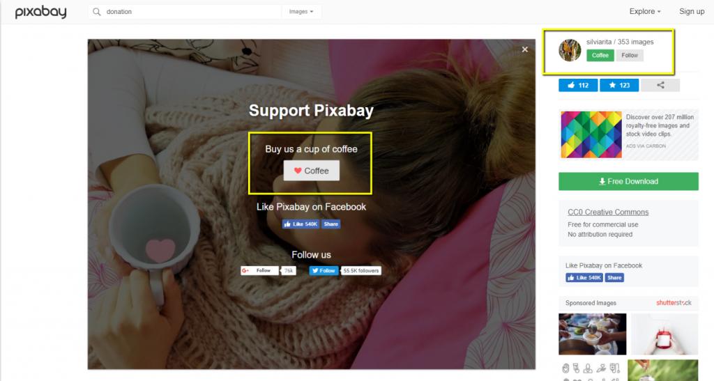 Donaciones en Blog