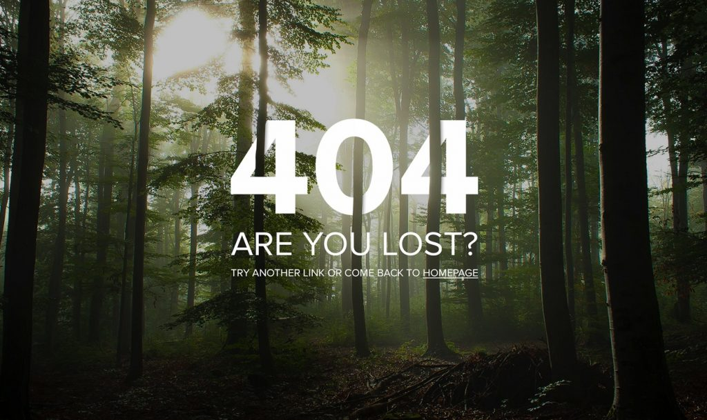 Forest used in an error page