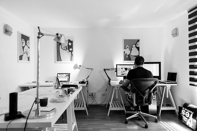 Set up a proper workplace at home