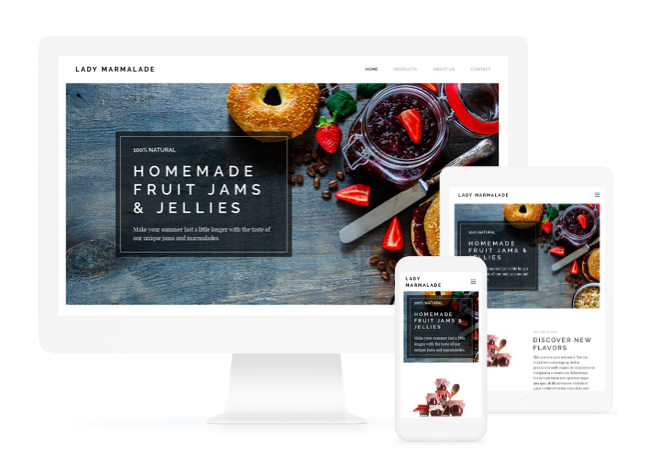 Original examples for how to use the Marmalade Maker website template from Webnode