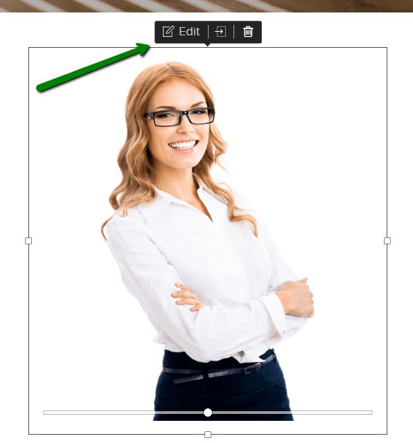 How to edit an image in Webnode website builder