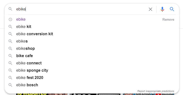Google AutoFill feature.