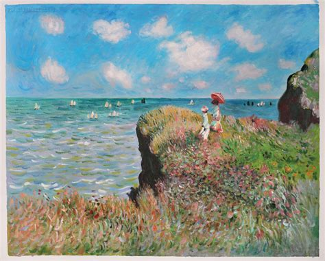The Cliffwalk at Pourville (1982) by Claude Monet is the perfect example of how the rule of thirds applies.