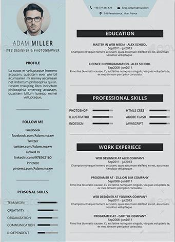 Example of good structured personal portfolio.