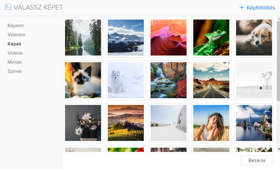 Webnode képgaléria gyűjteménye