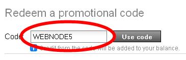 promotional code - webnode5