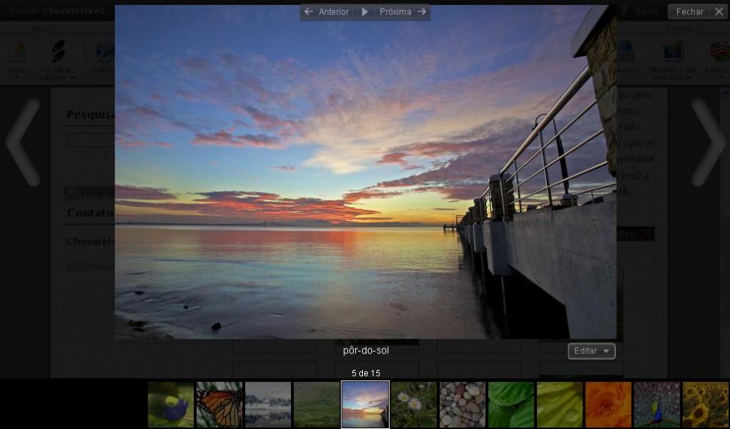Nova Galeria de Fotos do Webnode