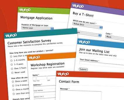 Modelos de Formulários Online Wufoo