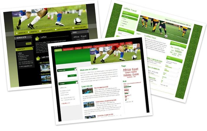 Scegli un modello per il tuo sito sul calcio