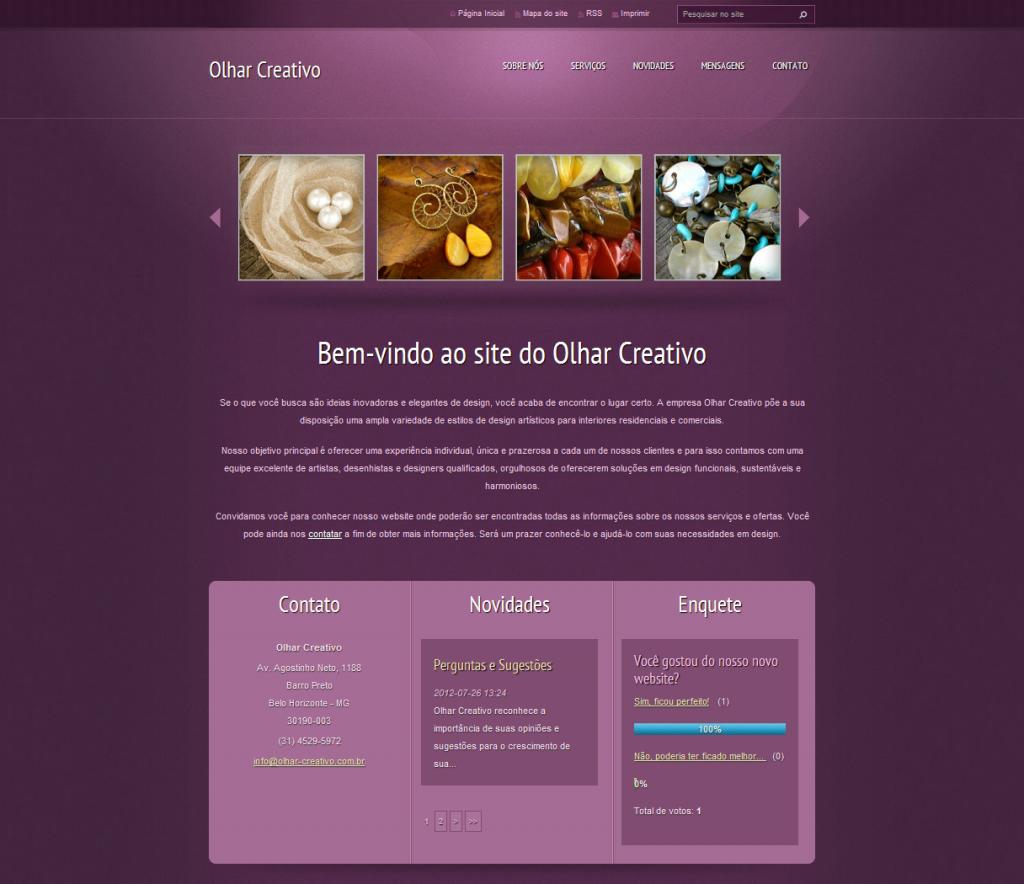 template webnode roxo