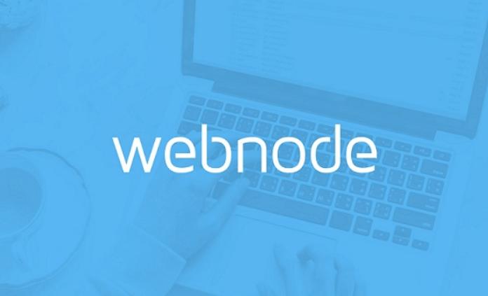 Rodapé do site Webnode