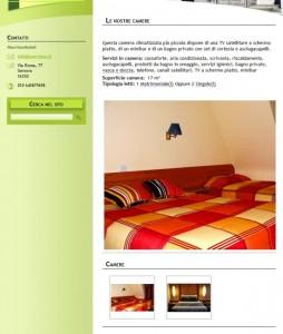 Exemplo de um site de hotel