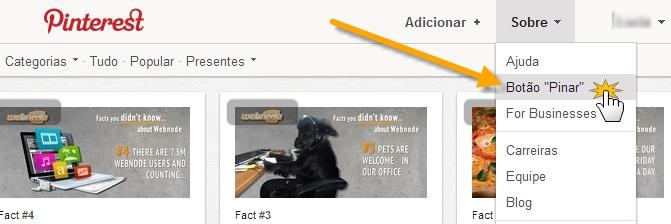 """Adicione botão """"Pinar"""" do Pinterest a seu site"""