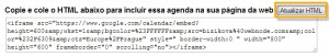 O sistema vai gerar um código que você colocará como widget em seu site.