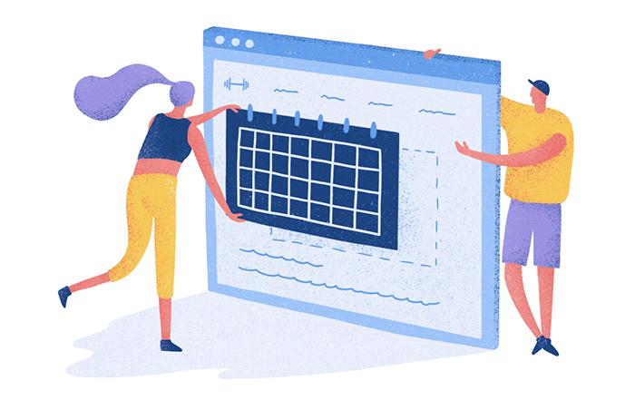 Agenda Google no site