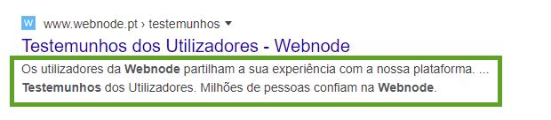 SEO - Como aparece descrição da página no Google